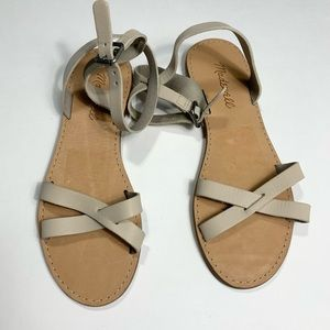 Madewell Women's Boardwalk Ankle Flats Sandals